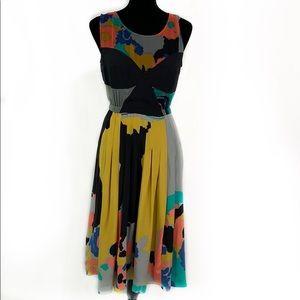 Anthropologies Tracy Reese silk midi dress EUC